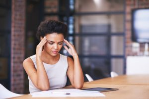woman stressed worried