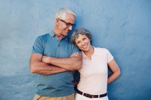 portrait of a smiling older couple
