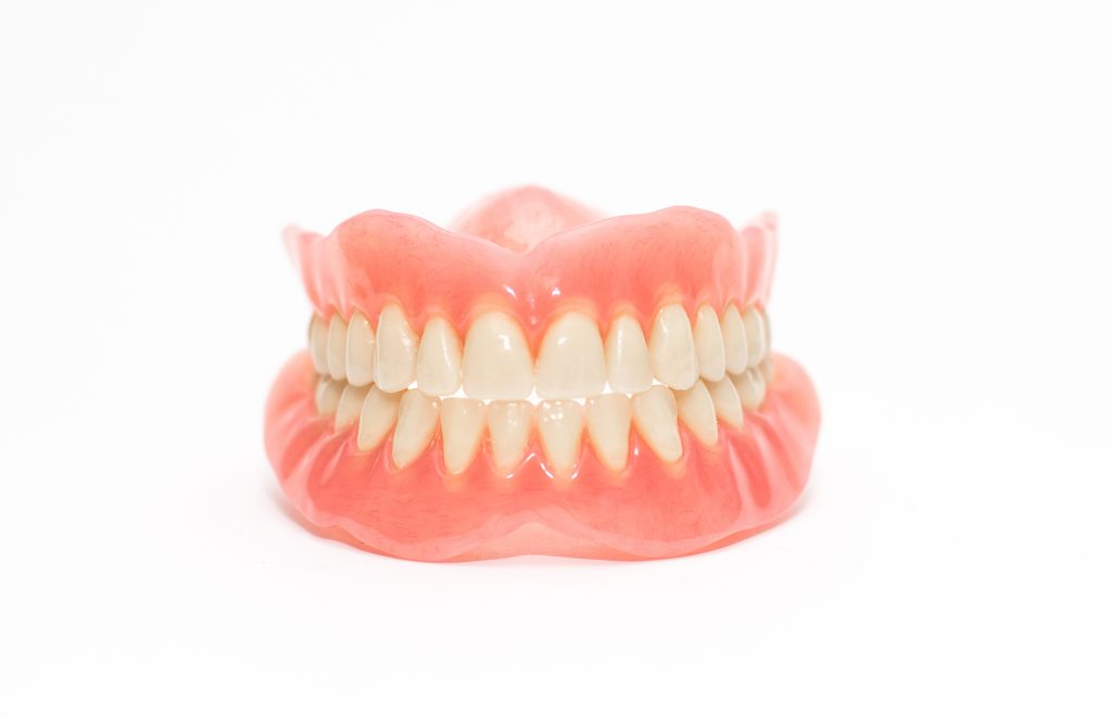 Full denture on a white background